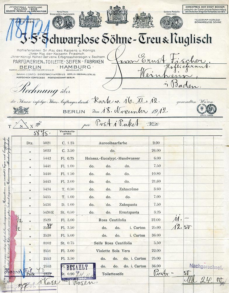 J.F. Schwarzlose Parfum Berlin Treffpunkt 8 Uhr