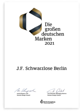 Die großen deutschen Marken 2021 J.F.Schwarzlose